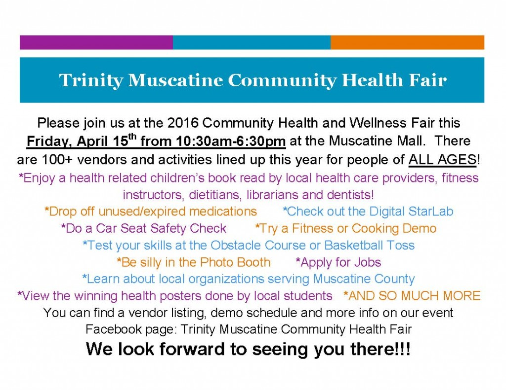 2016 Health Fair Flyer