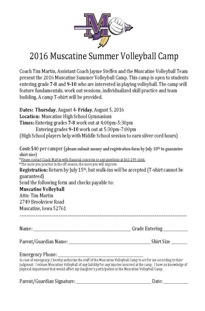 2016 MHS vball camp