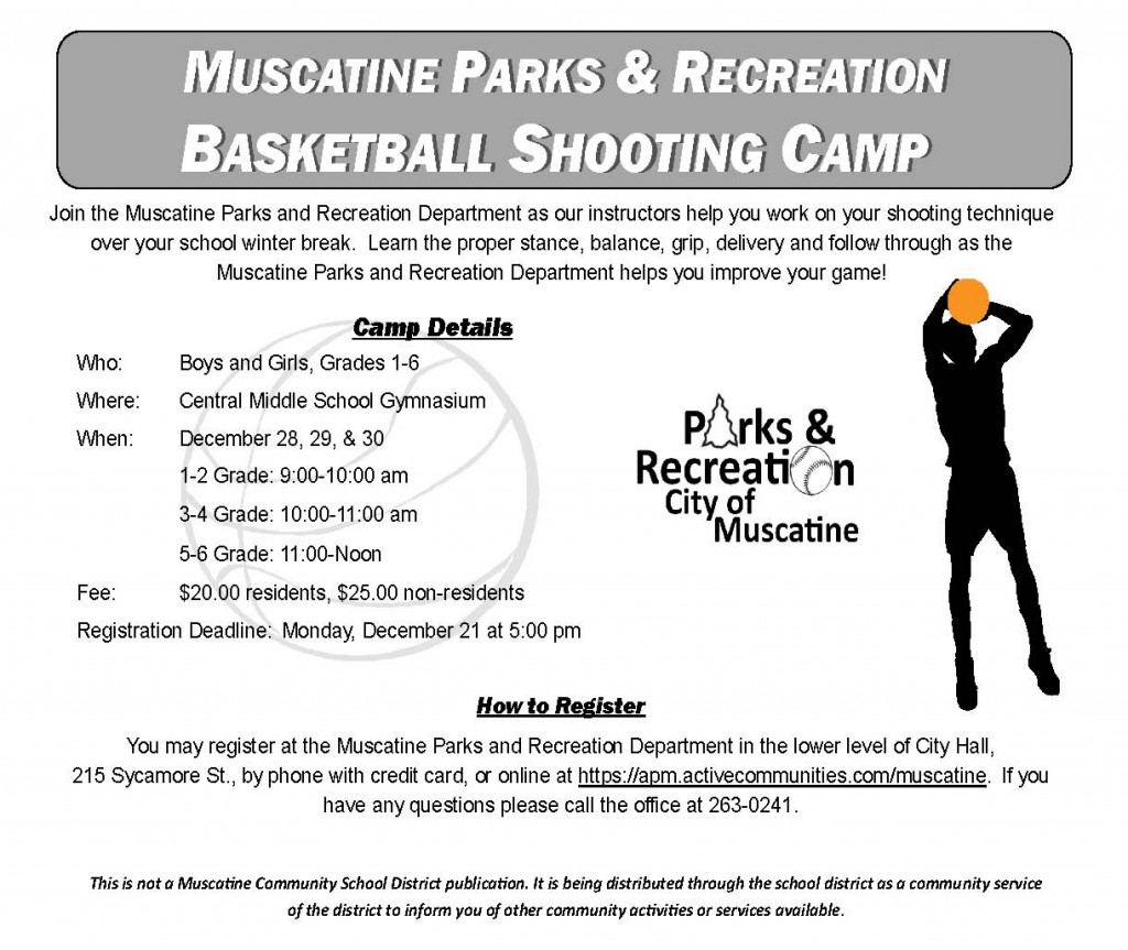 Boys Basketball Shooting Camp school flyer 2015