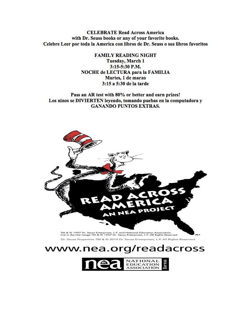 Celebrate READ ACROSS AMERICA 2016