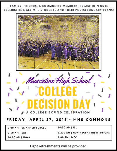 Muscatine Spring Cleanup 2020.Mhs Announcements April 11 2018 Muscatine Community