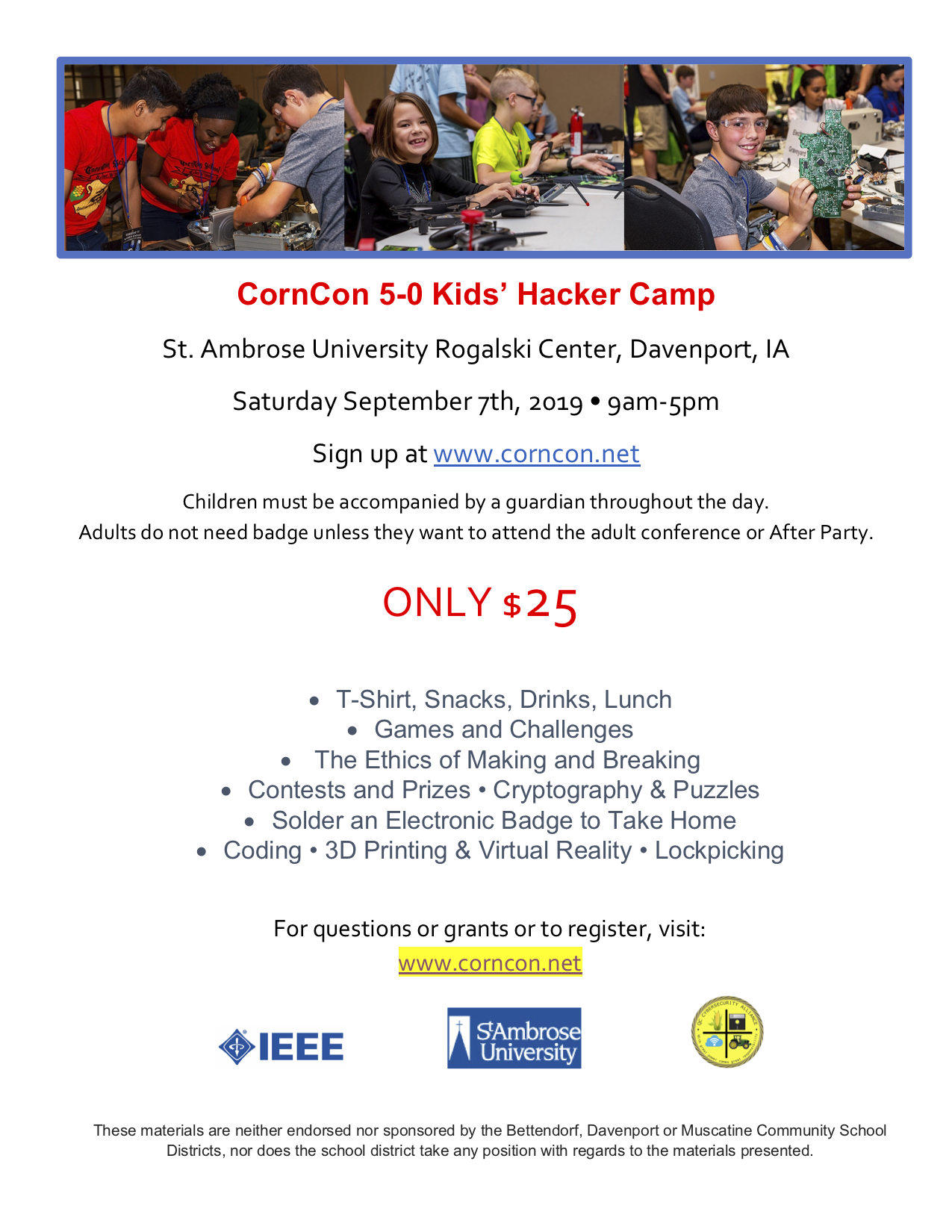 CornCon 5-0 Kids' Hacker Camp - Muscatine Community School District