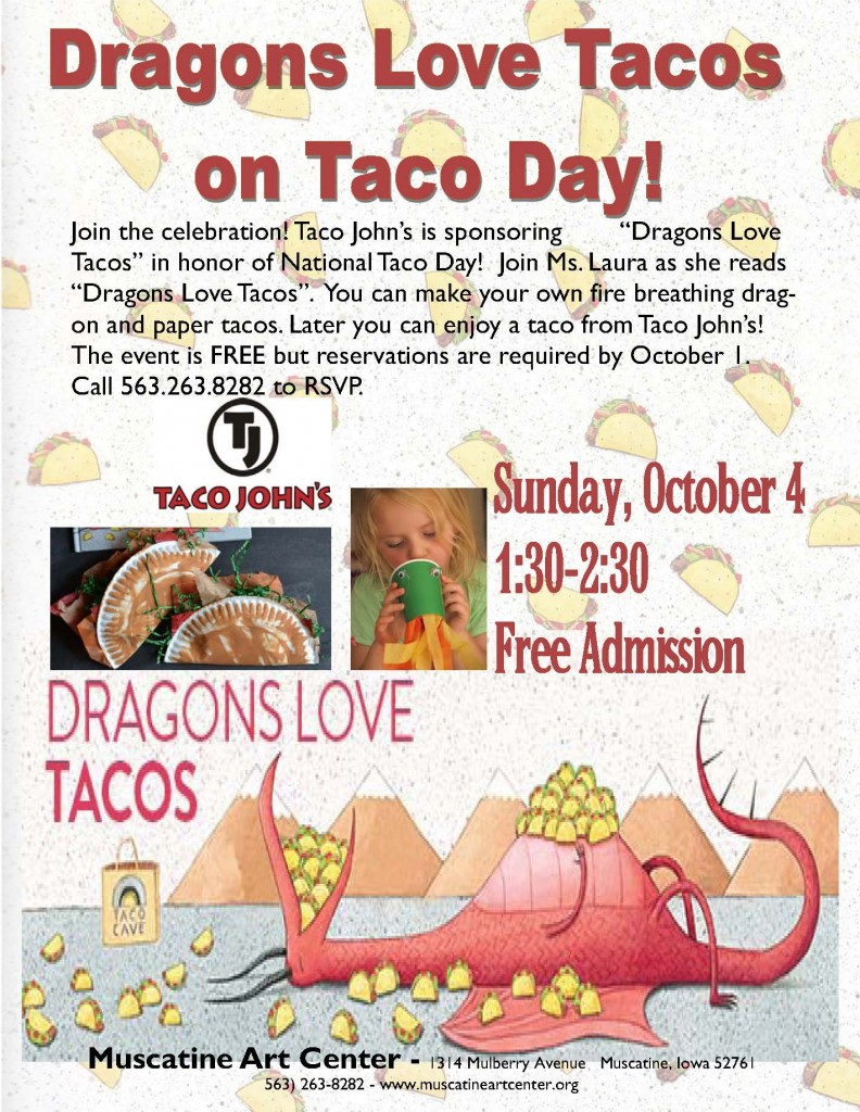 Dragons Love Tacos Family Event Flyer Lynn's