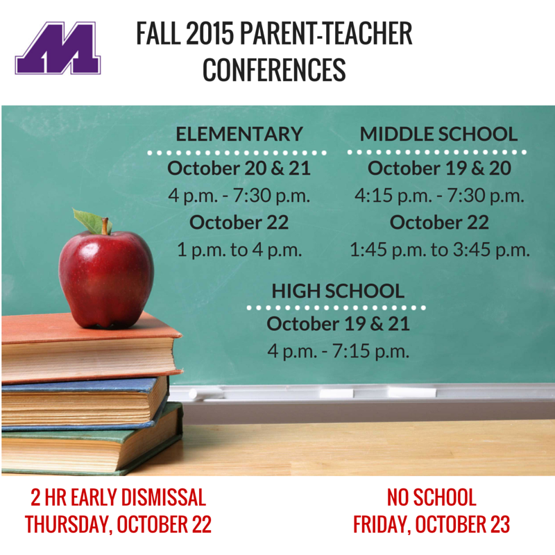 Fall Parent Teacher conferences (1)