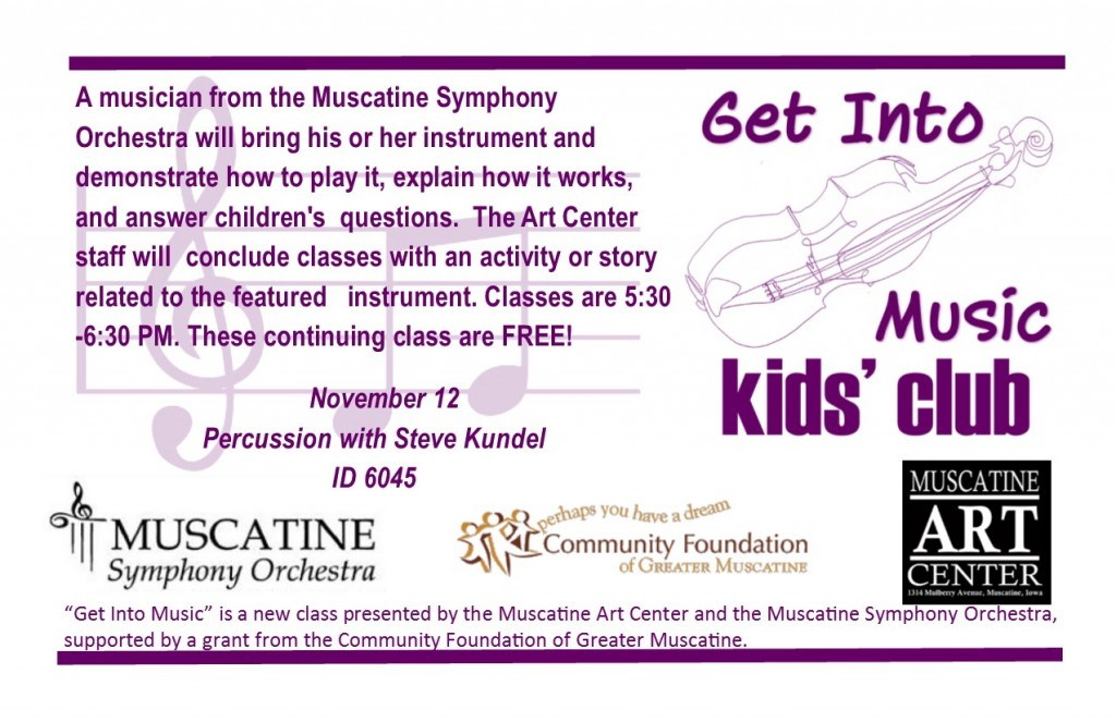 Get Into Music -November 12 - Percussion