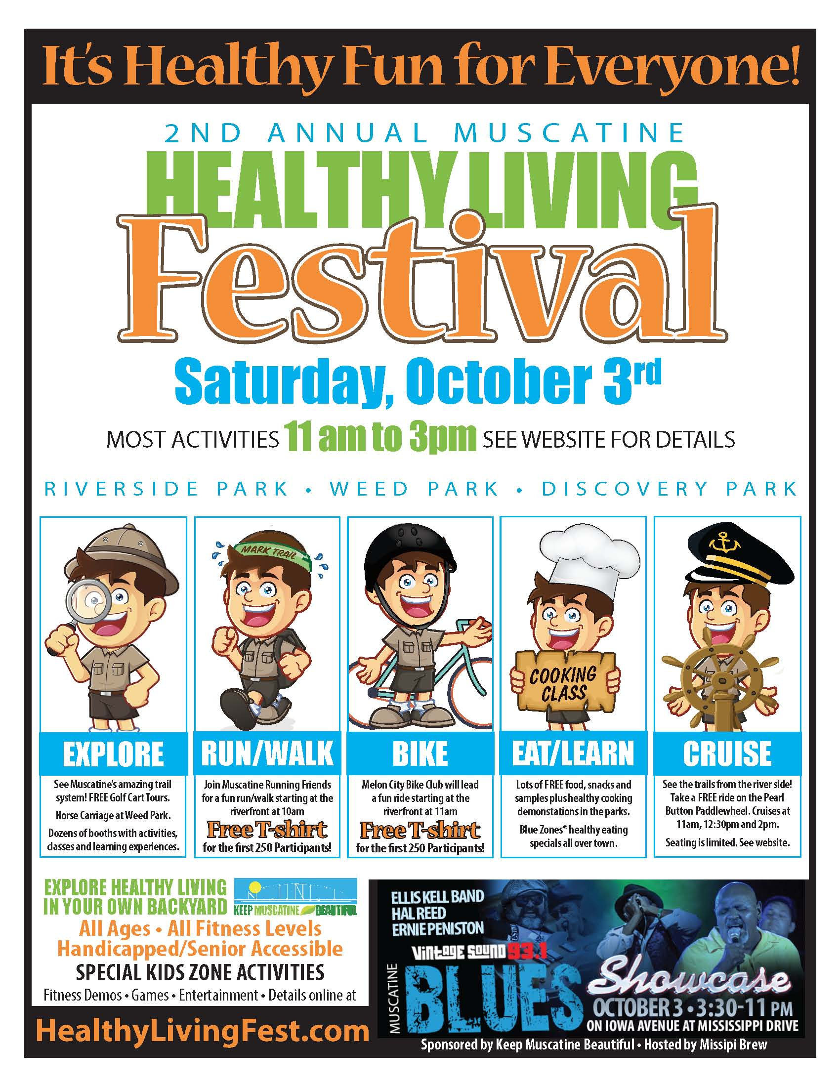 Muscatine Healthy Living Festival - Saturday October 3rd