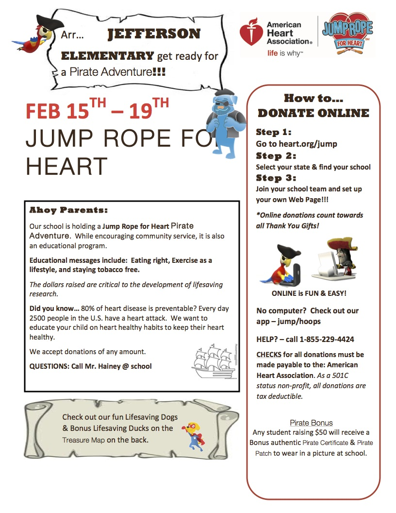 Jefferson Jump Rope For Heart Parent Letter