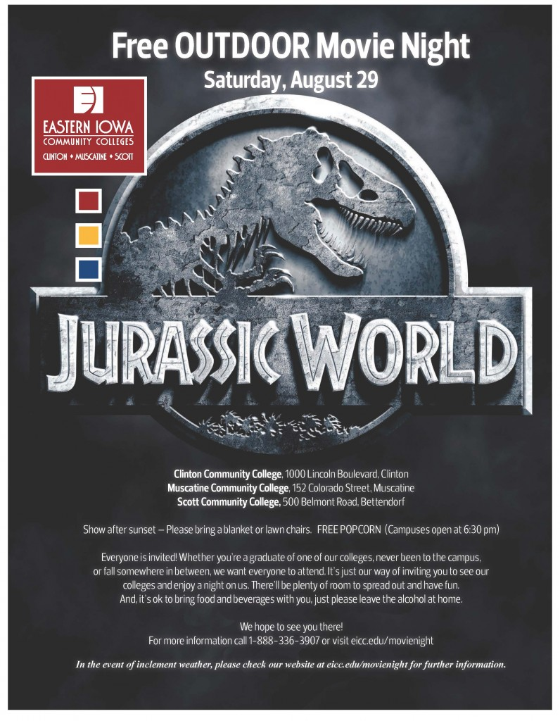 Jurrasic World Movie Night Flier