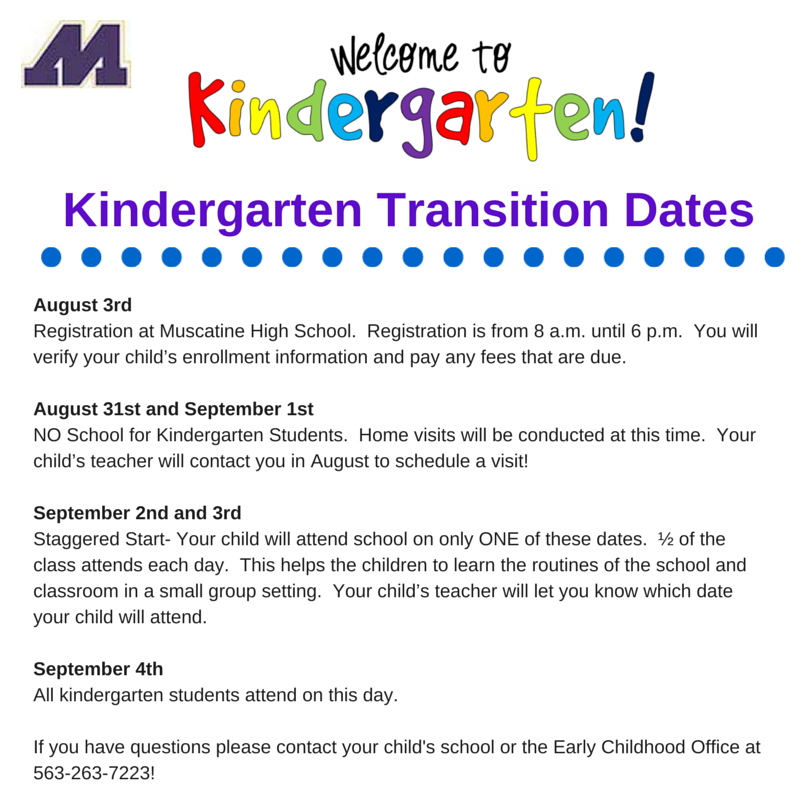 Kindergarten Transition Dates (1)