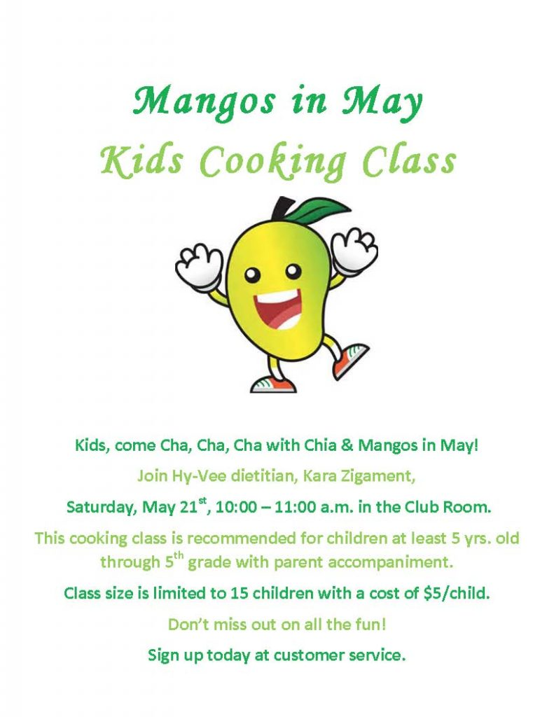 Mangos in May Kids Cooking Class