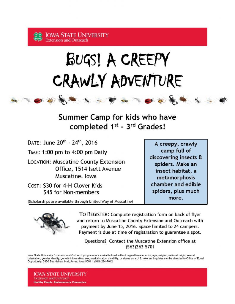 Muscatine Creepy Crawly Adventure & Registration