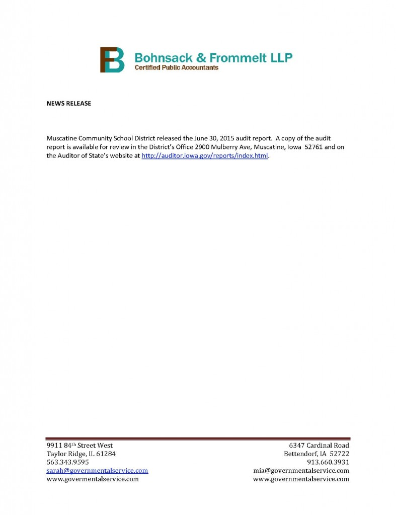 Muscatine News Release 2015 (1)