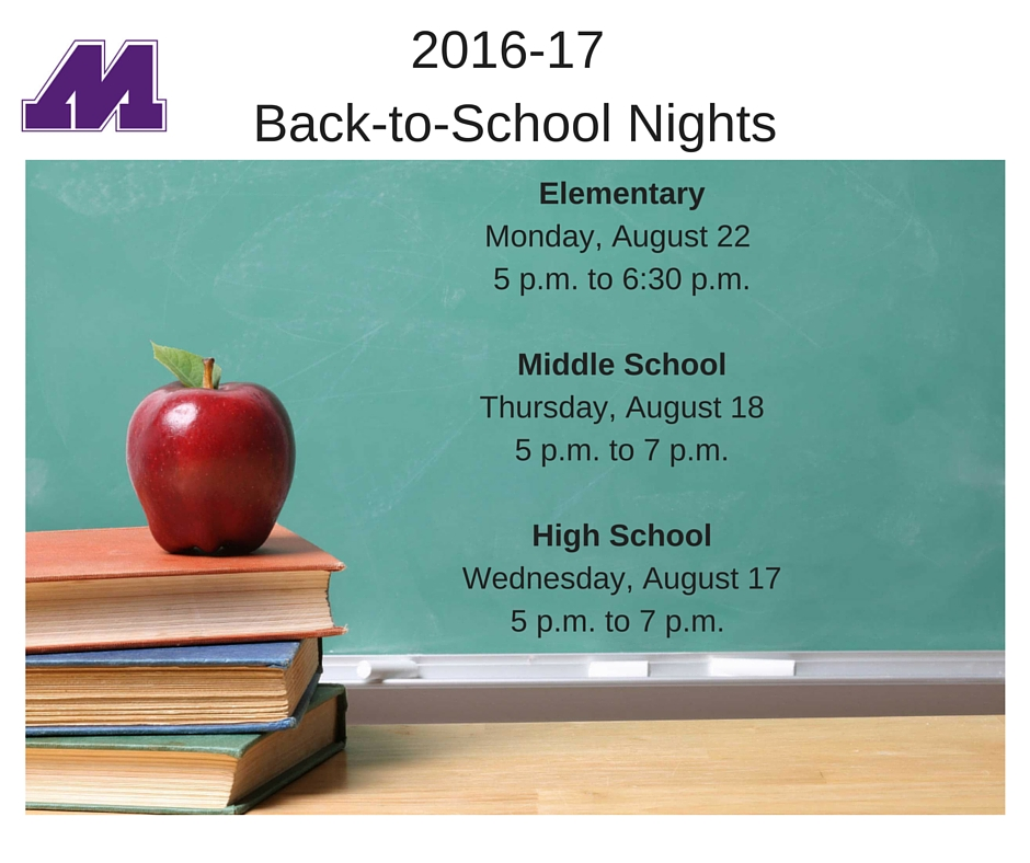 Back-to-School Nights