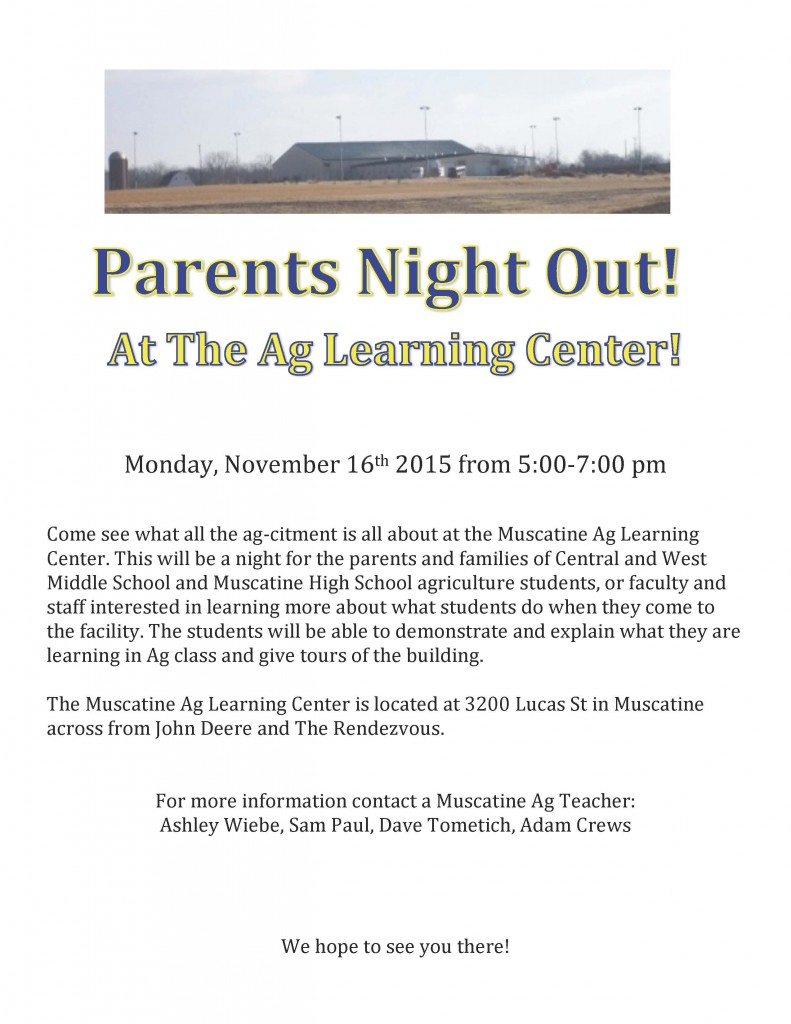 Parents Night At The Ag Center-November 16