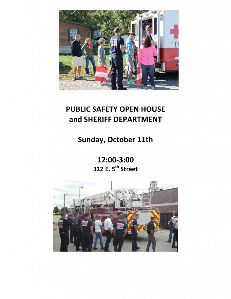 Public Safety open house flyer
