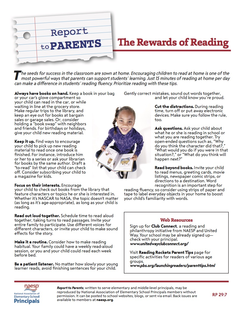 Report to Parents Reading