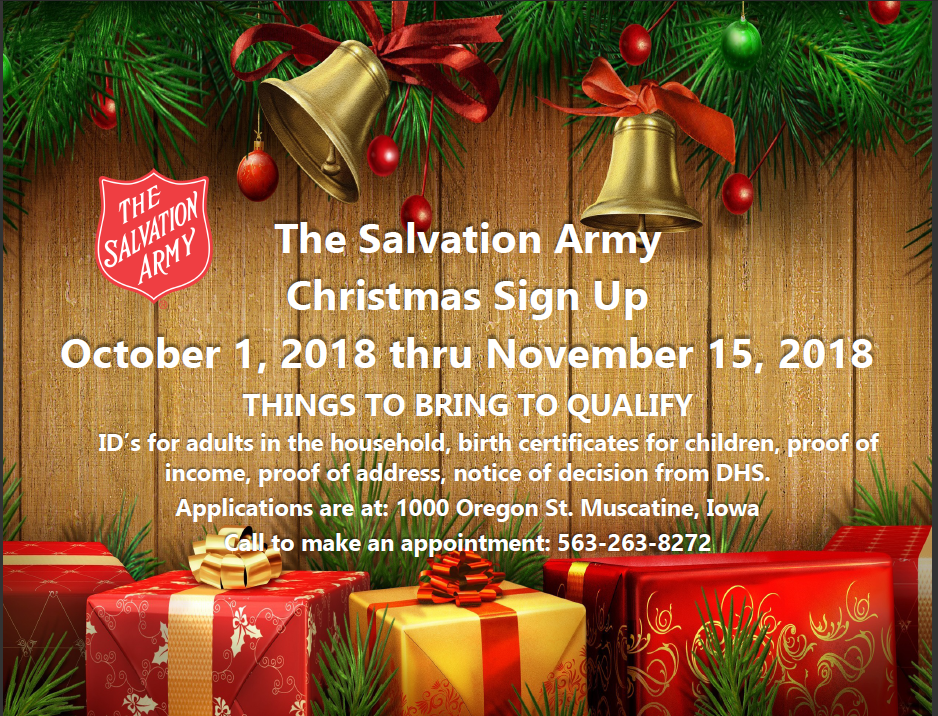 Christmas Assistance 2018 Christmas Assistance Sign Up 2018   Muscatine Community School  Christmas Assistance 2018