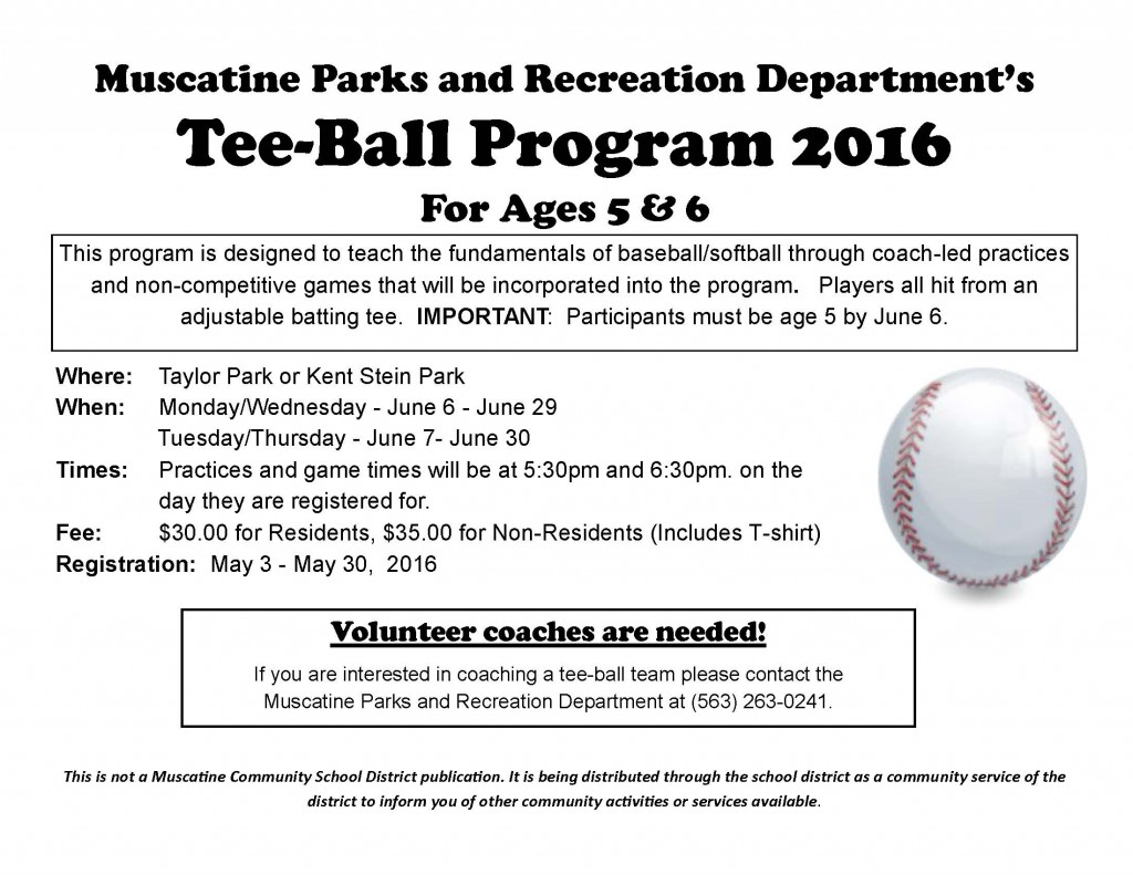 Tee-Ball school flyer