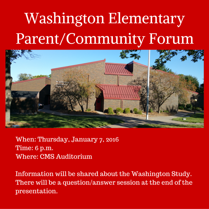 Washington ElementaryParent-Community Forum