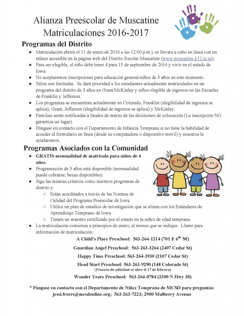 spanish2016-17PreschoolRegistrationProcedures