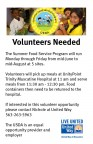 summer food service call for volunteers